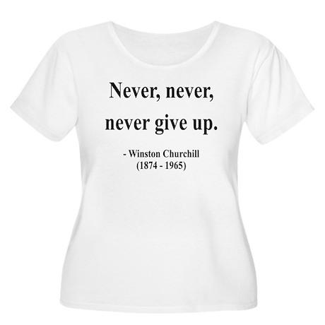 Winston Churchill 3 Women's Plus Size Scoop Neck T