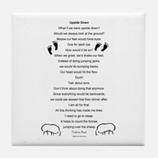 Upside Down Poem Tile Coaster