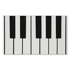Piano Keyed Rectangle Decal