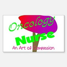 Oncology Nurse Rectangle Decal