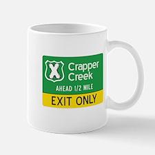 Crapperr Creek Exit Mug