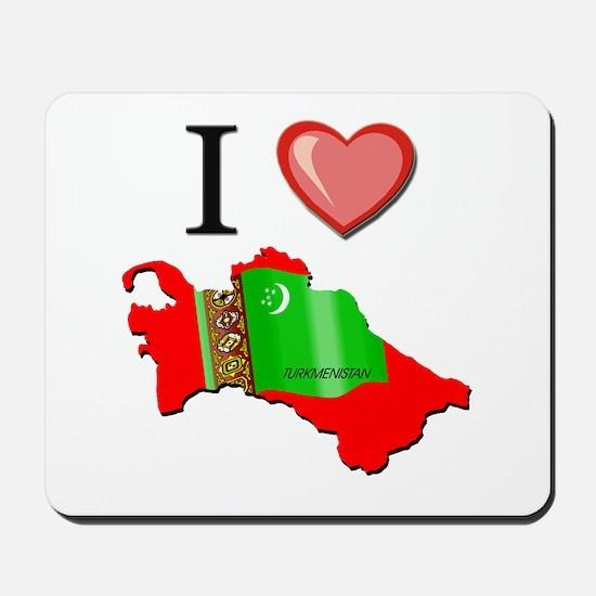 I Love Turkmenistan Mousepad