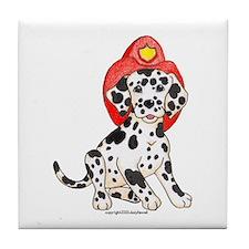 Fireman's Dalmation Tile Coaster