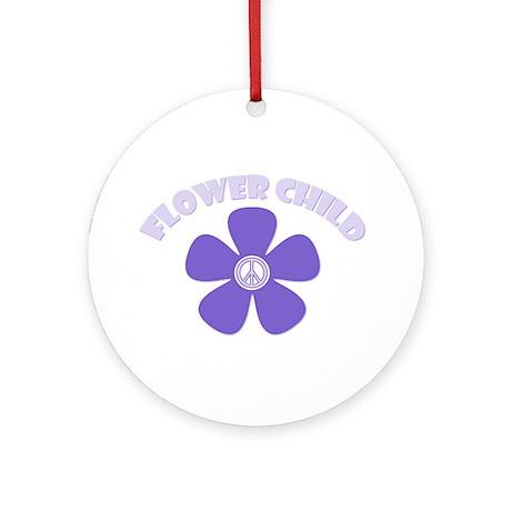 Purple Flower Child Ornament (Round)