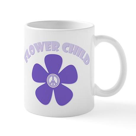 Purple Flower Child Mug