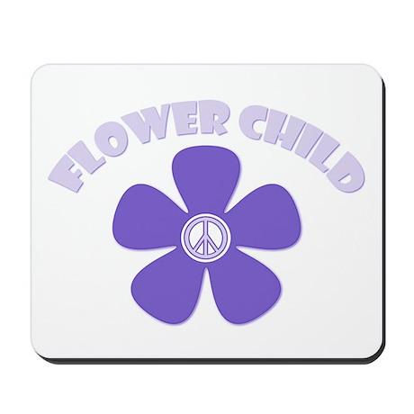 Purple Flower Child Mousepad