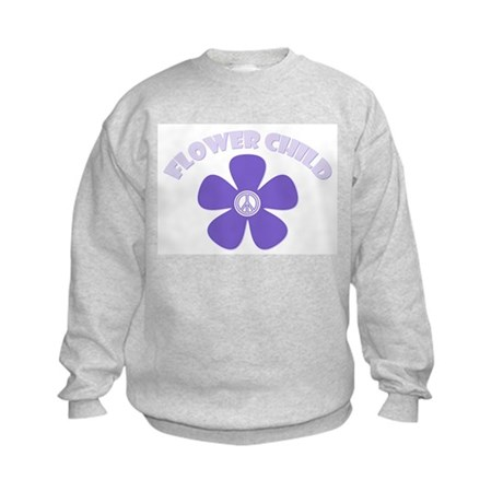 Purple Flower Child Kids Sweatshirt