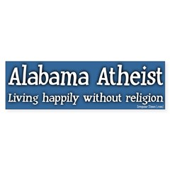 Alabama Atheist Bumper Bumper Sticker