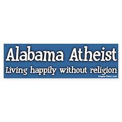 Alabama Atheist Bumper Bumper Sticker