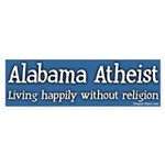 Alabama Atheist Bumper Sticker