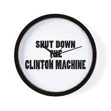Anti-Hillary Clinton T-shirts Wall Clock