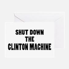 Anti-Hillary Clinton T-shirts Greeting Card