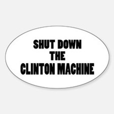 Anti-Hillary Clinton T-shirts Oval Decal