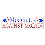 Moderates Against McCain bumper sticker