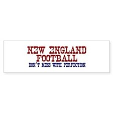 New England Football Perfection Bumper Bumper Sticker