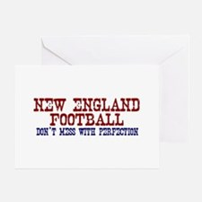New England Football Perfection Greeting Card