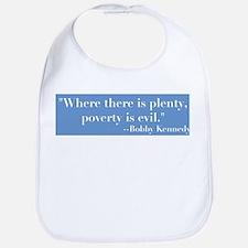 Blbby Kennedy on Poverty Bib