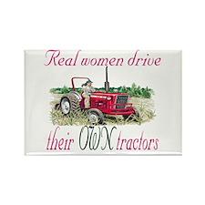 Real Women/Tractors Rectangle Magnet