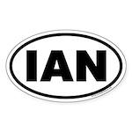 IAN Oval Sticker