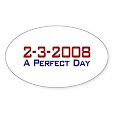 19-0 A Perfect Day Oval Decal