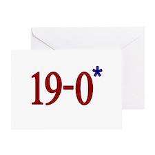 19-0 Asterisk (Spygate) Greeting Card