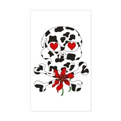 Cow Skull Anti-Valentine Rectangle Decal