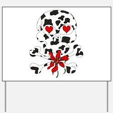 Cow Skull Anti-Valentine Yard Sign