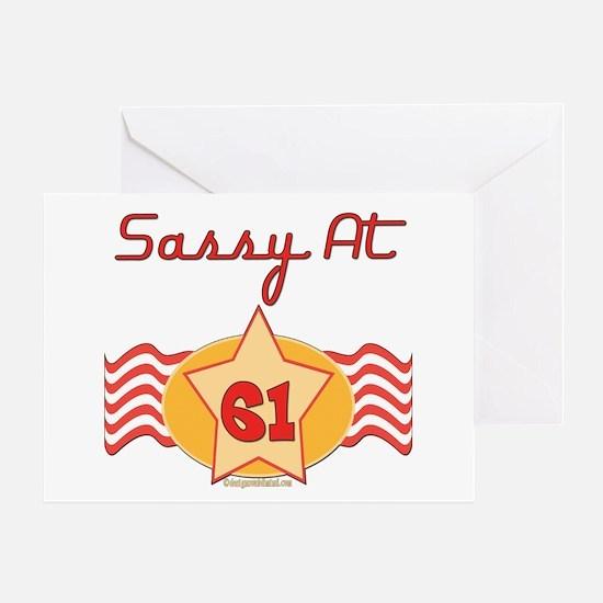 Sassy At 61 Years Greeting Card