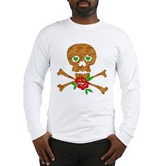 Tiger Skull Anti-Valentine Long Sleeve T-Shirt