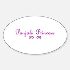 Punjabi Princess Oval Decal