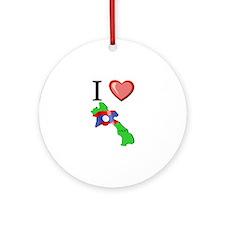 I Love Laos Ornament (Round)