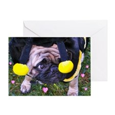 BumblePug Greeting Card