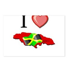 I Love Jamaica Postcards (Package of 8)