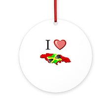 I Love Jamaica Ornament (Round)