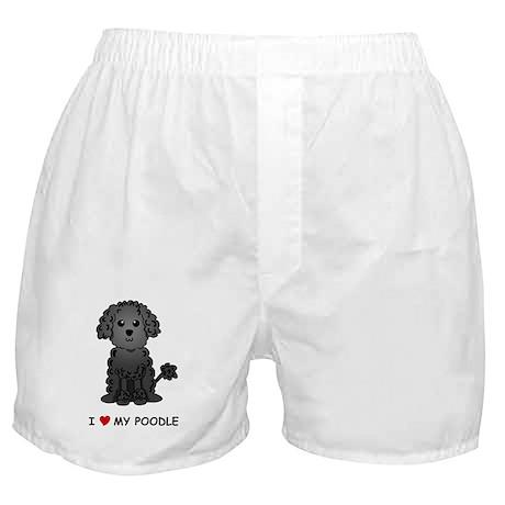 Black Poodle Boxer Shorts