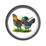 Easter Egg Chickens Wall Clock