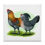 Easter Egg Chickens Tile Coaster