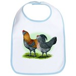 Easter Egg Chickens Bib