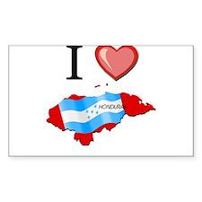 I Love Honduras Rectangle Decal