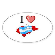 I Love Honduras Oval Decal