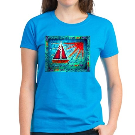 Sailboat<br> Women's Dark T-Shirt