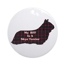 BFF Skye Terrier Ornament (Round)