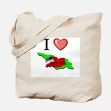 I Love Georgia-Republic Tote Bag