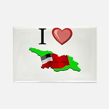 I Love Georgia-Republic Rectangle Magnet