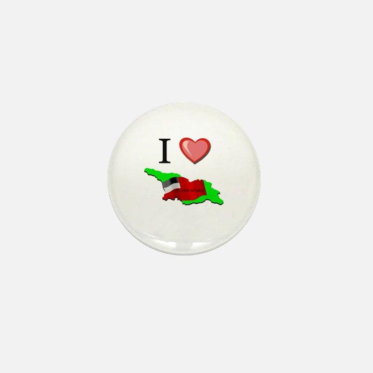 I Love Georgia-Republic Mini Button