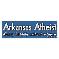 Arkansas Atheist Bumper Bumper Sticker