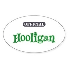Official Hooligan - Oval Decal