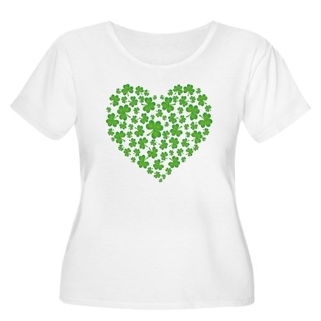 My Irish Heart Women's Plus Size Scoop Neck T-Shir
