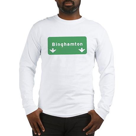 Binghamton Sign T-shirts Long Sleeve T-Shirt