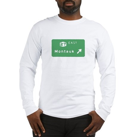 Montauk Exit Sign T-shirts Long Sleeve T-Shirt